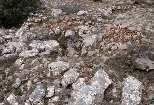 Trinchera en Las Lomas de Pancrudo